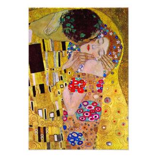 El beso de Gustavo Klimt arte Nouveau del vintage Invitacion Personalizada