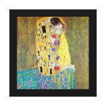 El beso de Gustavo Klimt, arte Nouveau del vintage Lona Estirada Galerias