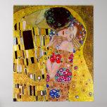 El beso de Gustavo Klimt, arte Nouveau del vintage Impresiones