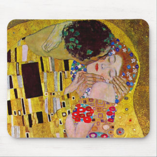El beso de Gustavo Klimt arte Nouveau del vintage Tapete De Raton