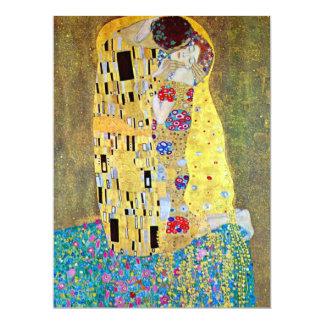 El beso de Gustavo Klimt, boda de Nouveau del arte Invitación 16,5 X 22,2 Cm