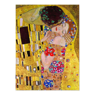 El beso de Gustavo Klimt, boda del arte del Invitación 16,5 X 22,2 Cm