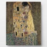 El beso de Gustavo Klimt (circa 1908) Placa De Plastico