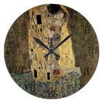 El beso de Gustavo Klimt (circa 1908) Reloj Redondo Grande