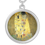 El beso de Gustavo Klimt Colgante Redondo