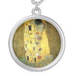 El beso de Gustavo Klimt Collar Personalizado