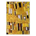 El beso de Gustavo Klimt, detalle del modelo del Tarjetas