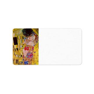 El beso de Gustavo Klimt Etiqueta De Dirección