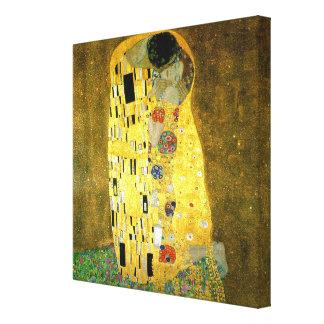 El beso de Gustavo Klimt Lona Estirada Galerías
