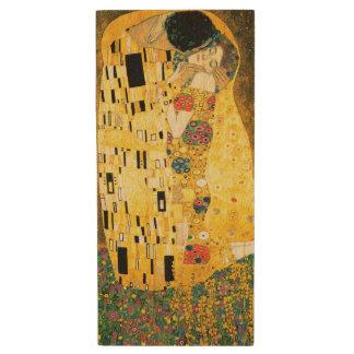 El beso de Gustavo Klimt Pen Drive De Madera USB 2.0