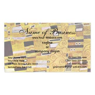 El beso de Gustavo Klimt, modelo del oro de Tarjetas De Visita