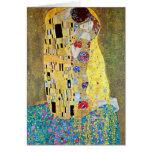 El beso de Gustavo Klimt, navidad de Nouveau del Tarjeton