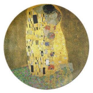 El beso de Gustavo Klimt Plato