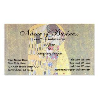 El beso de Gustavo Klimt Tarjetas De Visita