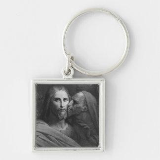 El beso de Judas 2 Llavero Cuadrado Plateado