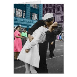 El beso de la Segunda Guerra Mundial Tarjetón