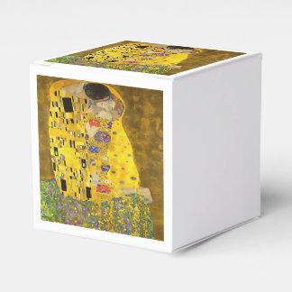 El beso de los amantes después de Klimt Cajas Para Detalles De Boda