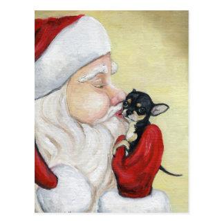 """El """"beso de Santa para postal del arte del perro"""