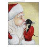 """El """"beso de Santa para tarjeta de felicitación del"""