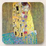 El beso (Der Kuss) por Gustavo Klimt, arte Nouveau Posavasos De Bebida