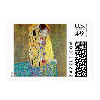 El beso Der Kuss por Gustavo Klimt arte Nouveau Sello