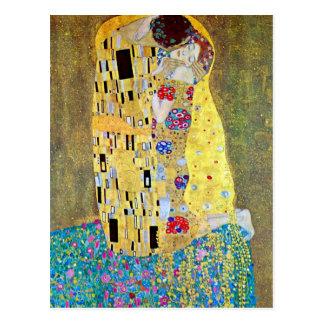 El beso Der original Kuss por Gustavo Klimt Postal