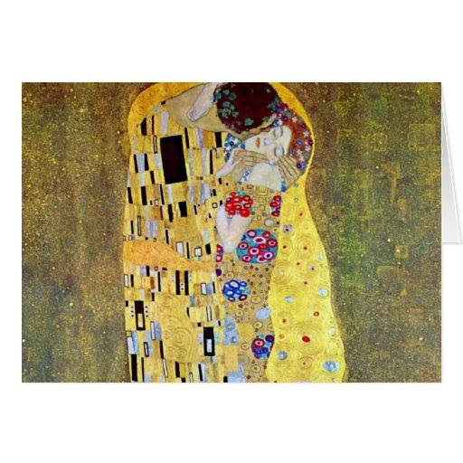 El beso (Der original Kuss) por Gustavo Klimt Felicitaciones