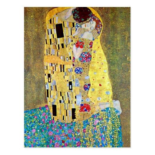 El beso (Der original Kuss) por Gustavo Klimt Postal