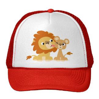 El beso: Gorra lindo de los pares del león del dib