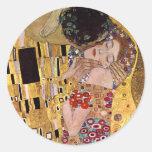 El beso, Gustavo Klimt Pegatinas Redondas