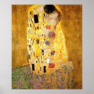 El beso Gustavo Klimt Póster