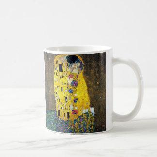 El beso, Gustavo Klimt Taza Básica Blanca