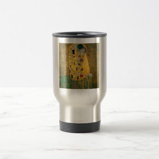 El beso - Gustavo Klimt Taza De Viaje De Acero Inoxidable