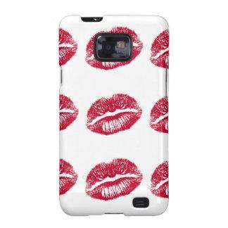 El beso, labios rojos samsung galaxy s2 carcasas