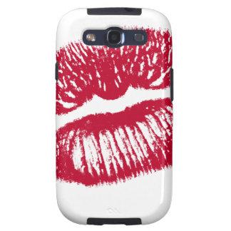 El beso, labios rojos galaxy SIII fundas