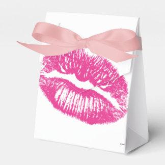 El beso, labios rosados cajas para regalos de fiestas