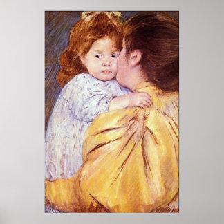 El beso maternal de Maria Stevenson Cassatt Impresiones