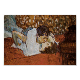 El beso - por Enrique de Toulouse-Lautrec Impresiones