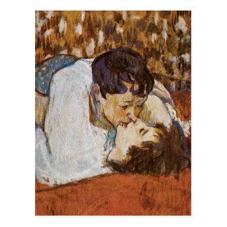 El beso - por Enrique de Toulouse-Lautrec Postales