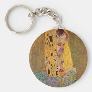 El beso por Klimt Llavero Redondo Tipo Pin