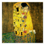 El beso por la impresión del poster de la bella