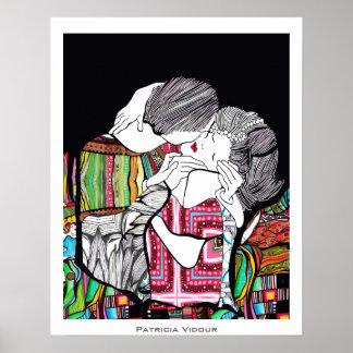 El beso póster