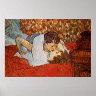 El beso - poster de Enrique de Toulouse-Lautrec