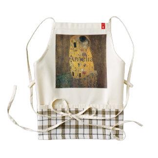El beso, reproducción, pintura de Gustavo Klimt, Delantal Zazzle HEART