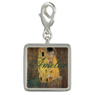 El beso, reproducción, pintura de Gustavo Klimt, Dijes