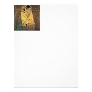 El beso, reproducción, pintura de Gustavo Klimt, Membretes Personalizados