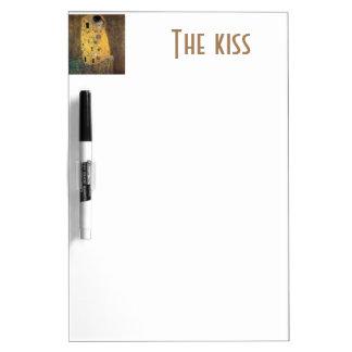 El beso, reproducción, pintura de Gustavo Klimt, Tableros Blancos