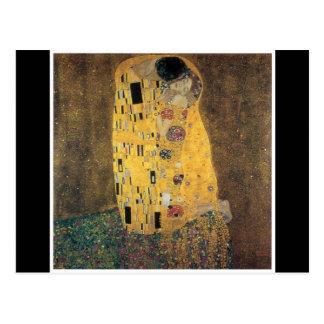 El beso, reproducción, pintura de Gustavo Klimt, Tarjeta Postal