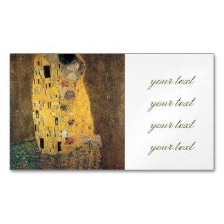 El beso, reproducción, pintura de Gustavo Klimt, Tarjetas De Visita Magnéticas (paquete De 25)