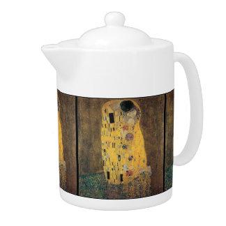 El beso, reproducción, pintura de Gustavo Klimt,